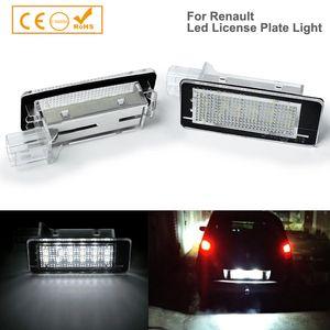 2pcs Car-Styling Luzes LED License Plate Para Captur Clio III Espace IV fluência Laguna III Megane grandtour Twigo II