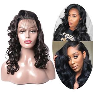 Loose Wave Brazilian Women Human Hair Full Lace Wavy Wig Remy Virgin Indian Peruvian Wig Caps