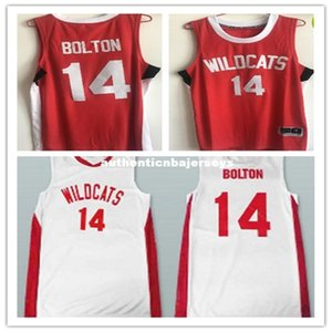 Дешевые ретро # 14 Zac Efron Трой Болтон East High School Рискованные баскетбольное отсылок Mens прошитой Рубашка на заказ любой номер