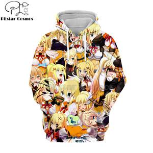 PLstar Cosmos 2020 Hipster Anime hoodies Cute girl Streetwear Hoody Darkness of Konosuba Comic 3D Print Harajuku Zipper jacket