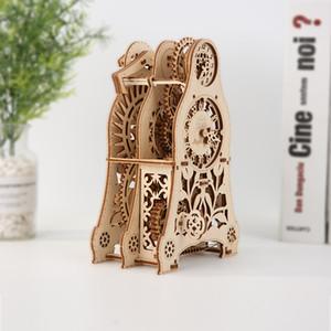 Wooden Mechanical Transmission Model Magic Pendulum Timer DIY Spell Insert 3D Model Puzzle Hands-on Toy Mechanical Model