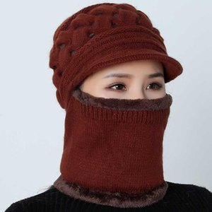 Winter Hat Knitted Mother Hats Balaclava Wool Hat Knitted Winter For Girl Female Caps Gorras Skullies Bonnet Mask