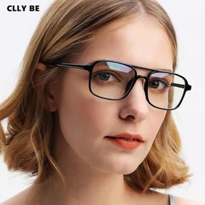 Vintage PC Rectangle Glasses Frame Women Men Myopia Clear lens Eye Glass Prescription Eyeglasses Frames Korean Optical Eyewear