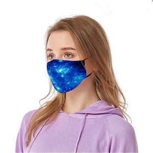 Mout 2020 Mascerine novas máscaras Elastic Camo Imprimir Dener Trump 4 Layer Mask Earloop Poeira Filtrition Fa para Man Woman # 571 # 802