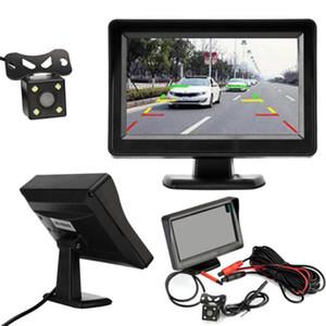 4.3inch 12V Car Rear View Camera monitor Backup Reverse Camera Kit Night Vision Reversing Parking Rear View System