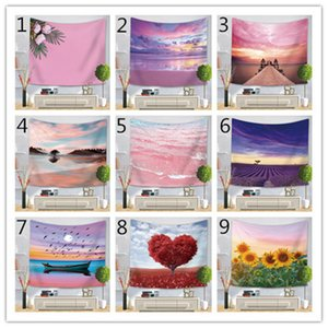 Cross-border Hot Sale Pink Beach Tapestry 3D Digital Printing Net Red Live Hanging Cloth Beach Towel