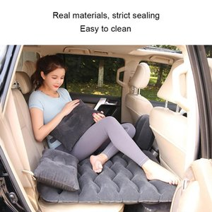 Inflatable Back Seat Travel Bed Car Air Mattress Mattress Air Bed Multi functional Sofa Pillow Outdoor Camping Mat Cushion Unive