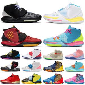 Мужские баскетбольные кроссовки kyrie 6 5 asia irving jumpman, USA shot clock, N7 pool, неоновые граффити, мужские кроссовки Bruce Lee, спортивные кроссовки