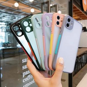 Lovebay Protection Caméra Matte Phone Case pour iPhone 12 11 Pro X XR XS Max 8 Plus antichocs Effacer dur PC Couverture arrière