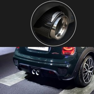 Car Exhaust System Muffler Tip Tail Pipes Pipe Cover Rear glossy carbon Fiber For MINI Cooper S F54 F55 F56 F57 F60 R55 R56