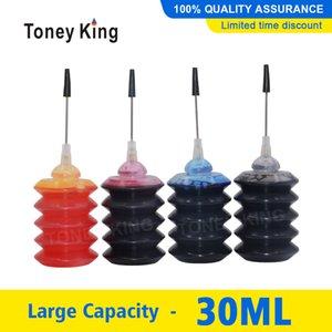 Toney Roi 30ml Bouteille Kits colorant encre Recharge pour T1281 T0931 T0731 T1631 T0631 T0711 T1811 Imprimante Caridges CISS réservoir d'encre