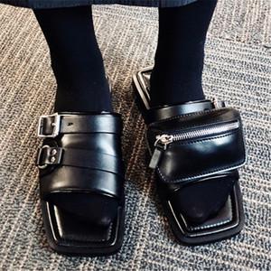 Slaytlar Zapatos Mujer Flats Dış Yeni Cep Tasarım Yaz Kadın Terlik Bayanlar Düz Sandalet Casual Beach Ayakkabı Kadın