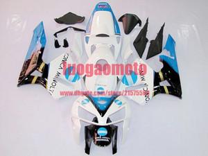 OEM_quality injection blanc carénages noir bleu pour HONDA CBR600RR 05 06 F5 CBR 600 RR 2005 2006 100% Fit kits de carénage carénages de carrosserie + réservoir