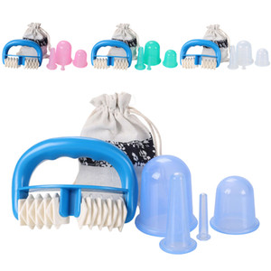 5pcs Jar Vacuum Cupping Cans for Massage Silicone Anti Cellulite Cup Vacuum Massage Cups Roller Manual Suction Cups