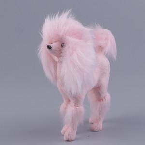 11x10cm peso ligero Pink Poodle Modelo Decoración del arte - Superficie suave felpa