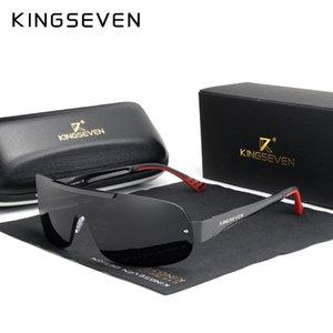 KINGSEVEN Design New Aluminum Men Brand Sunglasses HD Polarized Men's Sun Glasses Integrated Lens Eyewear Goggle Gafas De Sol Cl200920