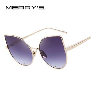 Merrys Frauen Katzenaugen-Sonnenbrille klassische Marken-Designer-Sonnenbrillen Luxus-Diamant-Verkrustete Objektiv S'8026
