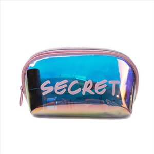 Miyahouse Fashion Lady Letter Printed Laser Toiletry Organizer Waterproof Female Makeup Pouch Holographic Women Cosmetic Bag