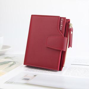 Women Wallet Short Zipper Wallet Clutch Bag Female Fashion Three Fold Coin Purse Ladies Leather Purse Card Money Wallet Mujer