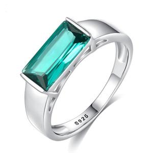 ONEVAN Modische Square Ring für Frauen Weibliche Finger-Ringe Romantische Ferien-Geschenk für Freundin Fashion Zircon-Stein Schmuck