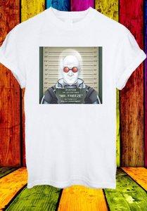 Uomini 2019 maschio più venduti T Shirt marchio di abbigliamento casual Tees Mr Freeze Victor Fries Gotham City di Batman T Mugshot Slim Fit