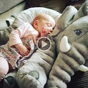 BOOKFONG 40 / 60cm felpa infantil suave del elefante elefante Appease Playmate calma muñeca de juguete de bebé elefante almohada de felpa juguetes de peluche Muñeca
