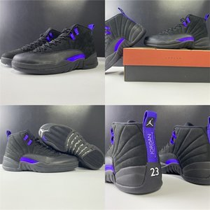 2020 Новый SnakeaskinИорданияРетро 12 Dark Concord Mens Off 12s Баскетбол Обувь Спорт На открытом воздухе Спортивная обувь Мода тапки