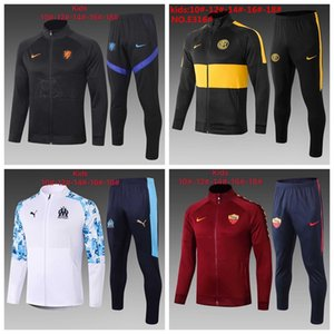2020 2021 Marseille kids L.GUSTAVO PAYET soccer jacket training suit 2019 2020 boy football TRACKSUIT #C37