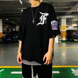 Moda correcta versión temor de Dios 5ª temporada Niebla malla Jersey de béisbol camiseta de Jerry High Street