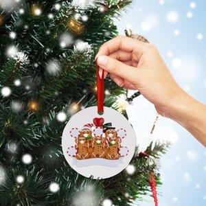 2020 الحجر عيد الميلاد زخرفة الديكور DIY 7 عائلة PVC عيد الميلاد الديكورات جائحة التباعد الاجتماعي HOT 2020