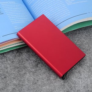2020 Porte Carte Business ID Credit Metal Card Holder Wallets Pocket Case Bank Credit Card Package Case Metal Card Box Aluminium