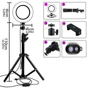 Luz del anillo de selfie LED regulable con la lámpara de anillo de luz del selfie usb del trípode Lámpara de anillo grande de la luz de la fotografía grande con el soporte para el estudio del teléfono celular