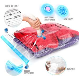 Vacuum Bag Storage Bag Home Organizer Transparent Border Foldable Clothes Organizer Seal Compressed Travel Saving Space Bag