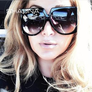 Estilos SHAUNA Oversize Mulheres Praça Sunglasses Moda Verão Gradient Shades UV400