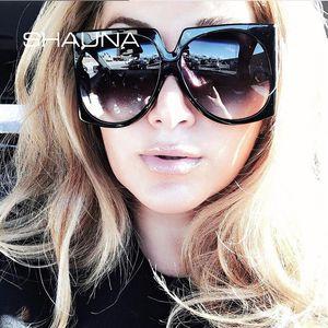 Sommer Shauna Gradient Square Oversize Mode UV400 Shades Frauen Styles Sonnenbrille OCQAA