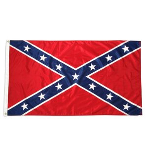 Direct factory wholesale ready to ship US 90x150 cm 3x5 ft civil War battle dixie Confederate Rebel Flag GD293