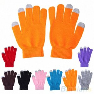 Wholesale-Unisex Womens Mens Soft Knitted Wool Hand Wrist Warmer Winter Touch Screen Gloves For Phones 8 Colors Chosen iImV#