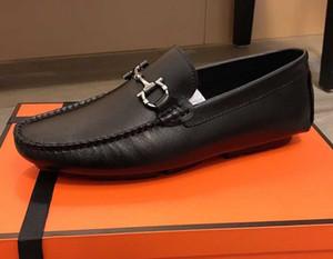 Brand Design homens vaca vestido de couro Sapata do casamento terno formal escritório de negócio sapatos Flats Baixa Doug Driving mocassins Horsebit Loafers, 38-44