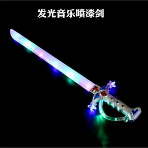 Fun LED Sword Игрушки Lightsaber Дети мигания музыка Мачете Мечи Хэллоуин проблесковый Электронные Детские игрушки Подарки