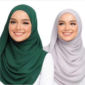 S002 Plain большого размера пузырь шифон Мусульманского хиджаб шарф головные платки оберните платок популярных шарфов исламскую шляпу