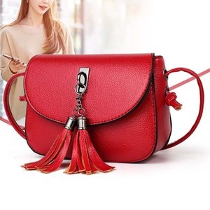 1 Pcs Women Shoulder Crossbody Bag PU Leather Tassel Fashion for Mobile Phone Money Best Sale-WT