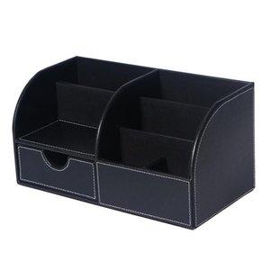 50 Органайзер Sundries макияжа Главная Remote держатель для хранения рабата Box Ounona Кожаный стол Контроллер ynTcL wrhome