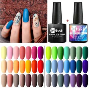 Mtssii reine Farben-UV-LED Matte Nagelgelpoliermittel Grundierung Matte Top Base Coat Nails Gel-Lack Semi Permanent Nail Art Maniküre