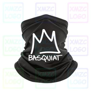 New Jean Michel Basquiat Crown Abstract Mens Black Bandana S 3Xl Unisex Bandana Headband scarf Neck Warmer Women Men