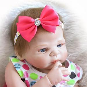ht 23 Inch 57cm Full silicone body reborn babies Girl dolls Can Bath Lifelike Real Vinyl Bebe Alive Brinquedos Reborn Bonecas
