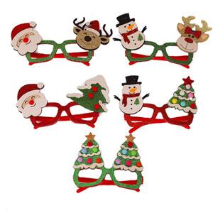 크리스마스 반짝이 파티 안경 크리스마스 장식 의상 안경 프레임 휴일 어린이와 성인을위한 모듬 스타일 호의 JK2009XB
