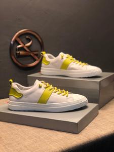 2019 scarpe da uomo di projetar di lusso Yellwo rendas utilidade superfície guarnição exterior de jogging caminhada sapatos casuais plate-forme # 2F