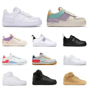Air force 1 af1 forces airforce one n354 Sapatos casuais Fashion react homens mulheres Utility 1 preto Shadow Pale Ivory Platform Sapatilhas skate tênis 36-45