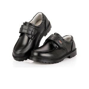 NEW big boys real leather shoes black school shoes children baby kids boots 10 11 12 13 14 15 years old boy dress