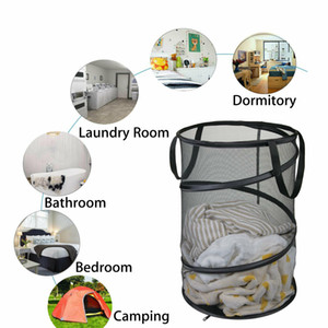 Foldable Large Storage Laundry Hamper Clothes Basket Nylon Laundry Washing Bag